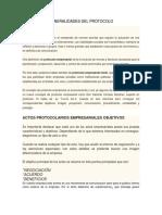 Generalidades Del Protocolo