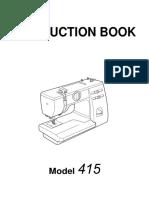 Janome 415 User Manual