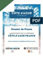 Dossier de Presse Marque Côte d'Azur France