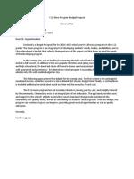 Sample Budget Proposal