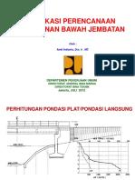 Aplikasi Perencanaan Pondasi Jembatan (Sesi 3a)