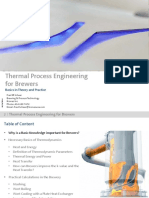 Thermal Process Engineering for Brewers