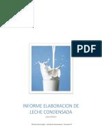 Informe Elaboracion de Leche Condensada