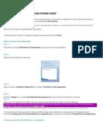 Configurar Presentación Power Point