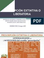 Diapositivas Exposición Prescripción Extintiva o Liberatoria