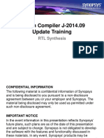 Design Compiler J-2014.09 TrainingUpdate