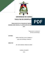 Clavijo. 2016. Prevalencia de La Posición de Terceros Molares Mandibulares Según La Clasificación de Sandhu y Kaur. Junio 2016