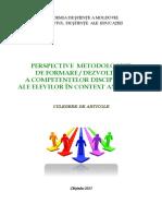 1460968116 19. Perspective Metodologice de Formare Dezvoltare a Competentelor Disciplinare Ale Elevilor in Context Axiologic
