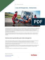 Plan de Accion en Caso de Emergencias Indicaciones Generales