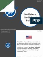 No Return No Refund Policies
