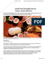 Popularity of sushi has brought rise in parasitic infections, warn doctors | World news | The Guardian