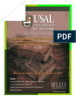 Primera Circular de Las V Jornadas de Literatura Argentina (USAL)