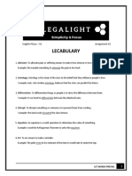 Lecabulary Sheet 1