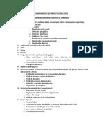 Componentes Del Proyecto Educativo