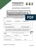 Examen Bachillerato en Matemática-Noviembre 2016-Zona Norte Norte-1