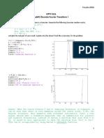 Discrete Fourier Transform Lab