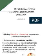 FRACCIONES EQUIVALENTES Y FRACCIONES EN SU MINIMA EXPRESIÓN.pptx