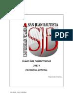 Silabo Patologia General 2017-I UPSJB
