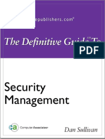 The Definitive Guide to Security Management Chapter 2