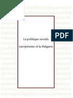 UE-BG Politique Sociale