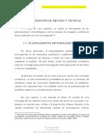 Descripcion de Metodos y Tecnicas