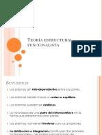 Unidad 1. Teoría Estructural Funcionalista