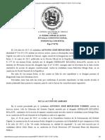 SALA CONSTITUCIONAL DEL TSJ DECLARA QUE FISCAL GENERAL DE LA REPÚBLICA INCURRE EN ABUSO DE PODER