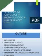 Genomics in Healthcare & of Haemat Cancers 2