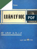 (1962) Luận Lý Học - Trần Bích Lan