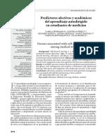 Predictores Afectivos y Academicos en El Aprendizaje Autodirigido