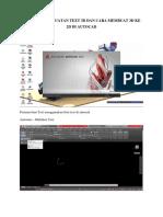 Tutorial Pembuatan Text 3d Dan Cara Membuat 3d Ke 2d Di Autocad
