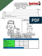 Examen de 3ro de Primaria, Quinto Bloque (RIEB 2011)