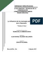 Proyecto Influencia de Los Mensajes Publicitarios Televisivos en La Aquicision de Productos
