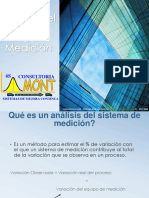Analisis del Sistema de Medición Variable
