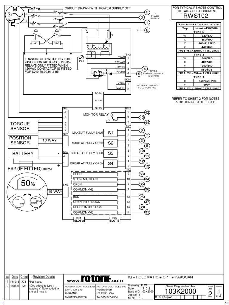 [SCHEMATICS_48EU]  103k2000-2 | Switch | Fuse (Electrical) | Rotork Wiring Diagram |  | Scribd