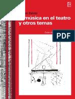 La música en el Teatro y otros temas