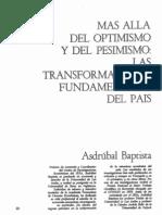 1984 Baptista a Mas Alla Del Optimismo y Del Pesimismo El Caso Venezuela