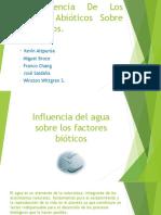 Influencia Del Agua Sobre Los Factores Bióticos Presentacion