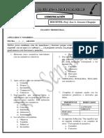 Examen Parcial de Comunicacion General II