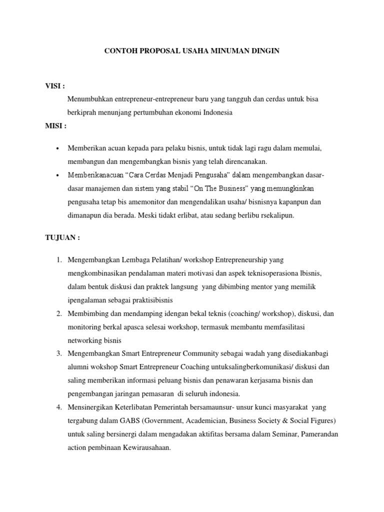 Dokumen Tips Contoh Proposal Usaha Minuman Dingin Docx