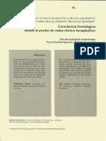 Conciencia fonologica desde el punto de vista clinico terapéutico.pdf