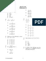 1991 Mathematics Paper2