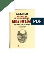 Bách Khoa Thư Các Khoa Học Triết Học Khoa Học Lôgíc - G.Hegel