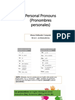 1. Personal Pronouns (Pronombres Personales) Unit 1