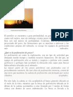 Petroleo - Perforación