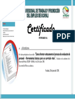 Certificado Junio