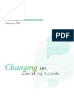 HR Changing Operating Models