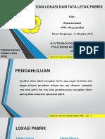 Penentuan Lokasi Pabrik - Rizka Nurdianti - 6 KIA