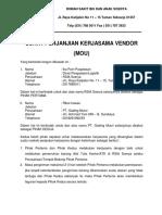 Surat Perjanjian Kerjasama Vendor