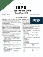 ibps po paper 17 6 2012
